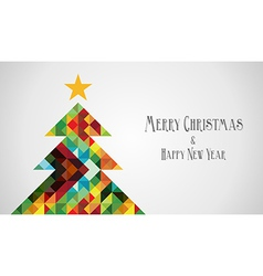 Diversity mosaic arty Christmas Tree vector image