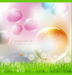flying colorful bubbles vector image