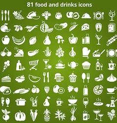 FoodDrinks vector image vector image