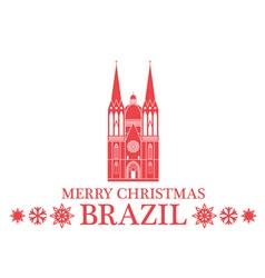 Merry Christmas Brazil vector image