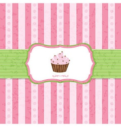 Pastel Vintage Cupcake Background vector image vector image