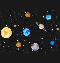 planets of the solar system outer space vector image vector image