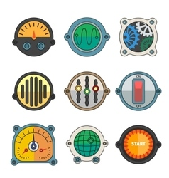 Robot technical Colorful meter icon vector image