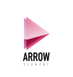 Arrow geometric design logo vector