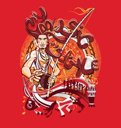 Brazilian Martial Art Capoeira My Music My Style vector image