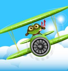 frog pilot vector image vector image