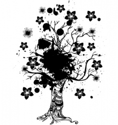 grunge nature tree vector image vector image