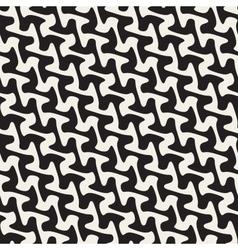 Seamless Hand Drawn Diagonal Wavy Lines vector image