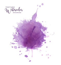 Abstract isolated purple watercolor drops splash vector
