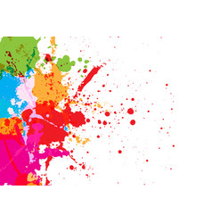 Abstract splatter red blue green orange pink vector