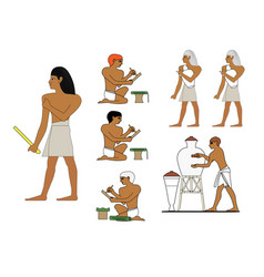 ancient egypt ceramists at work egyptian ceramics vector image
