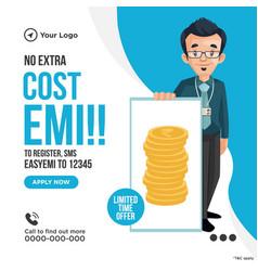 Banner design of cost emi vector