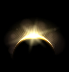 beautiful astronomic solar moon eclipse vector image