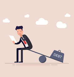 Businessman or a manager with a loan agreement vector