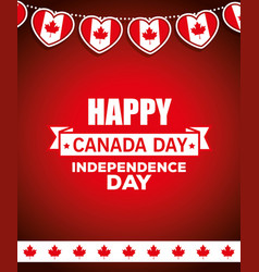Canada happy day celebration poster vector