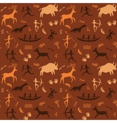 Cave Drawings Theme vector