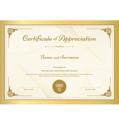 Certificate of appreciation template vector
