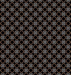 Checkered black seamless pattern with rhombus and vector