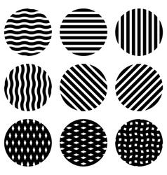Circles design elements vector image