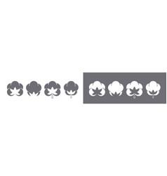 Cotton organic eco icons bio natural logo set vector