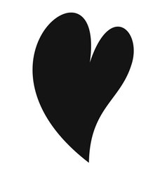 Deaf heart icon simple style vector