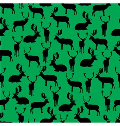 Fallow deer silhouette pattern eps10 vector