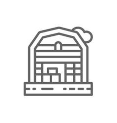farm house landscape line icon vector image