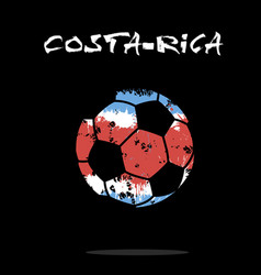 Flag of costa-rica as an abstract soccer ball vector