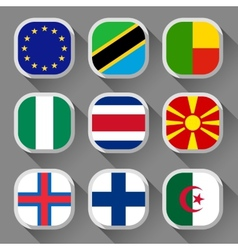 flags world vector image