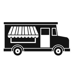 Food truck icon simple style vector