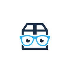 Geek box logo icon design vector