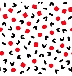 Geometric Pattern Painted Red Black White vector