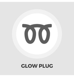 Glow plug flat icon vector