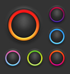 Glowing Button Template Set vector image
