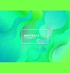green abstract futuristic design poster art vector image