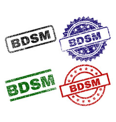 Grunge textured bdsm stamp seals vector