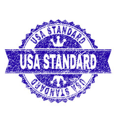 Grunge textured usa standard stamp seal with vector