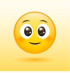 Happy and cute smiley face yellow icon vector