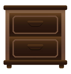Home nightstand icon cartoon style vector