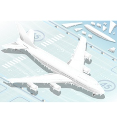 Isometric Frozen Airplane in Front View vector image