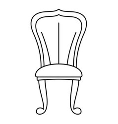 king throne icon outline style vector image