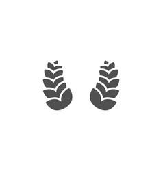 laurel wreath simple icon reward sign vector image