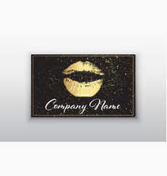 Makeup artist business card business cards vector