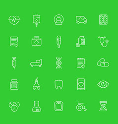 medicine healthcare medical line icons set vector image