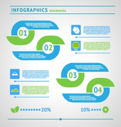 Modern eco infographics elements vector image