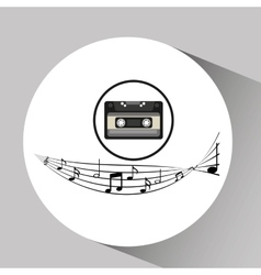 Music cassette vintage background desgin vector