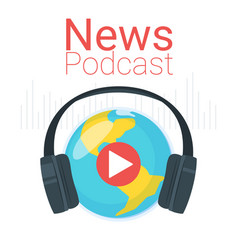 News podcast color vector