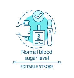 Normal blood sugar level healthcare concept icon vector