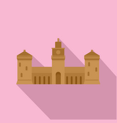 old castle icon flat style vector image
