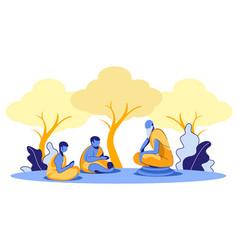 Oriental traditions beliefs spiritual practices vector